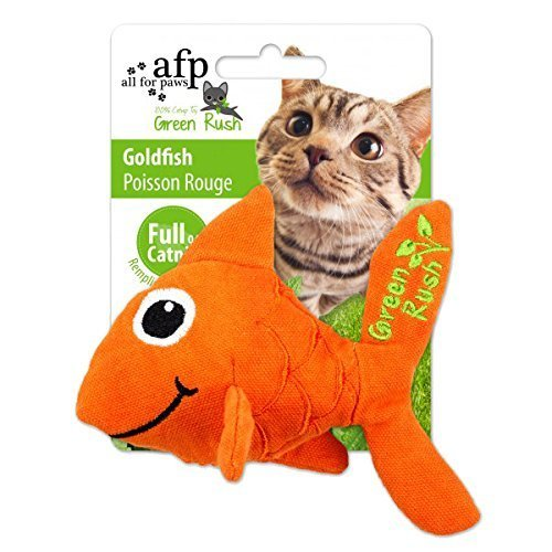 AFP Green Rush Goldfish with Catnip Cat Toy, 12 g