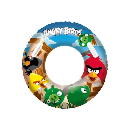 """36"""" Angry Birds Swim Ring - Bestway Inflatable Swimming Pool 36 Tube -  angry birds ring swim bestway inflatable swimming pool 36 tube"""