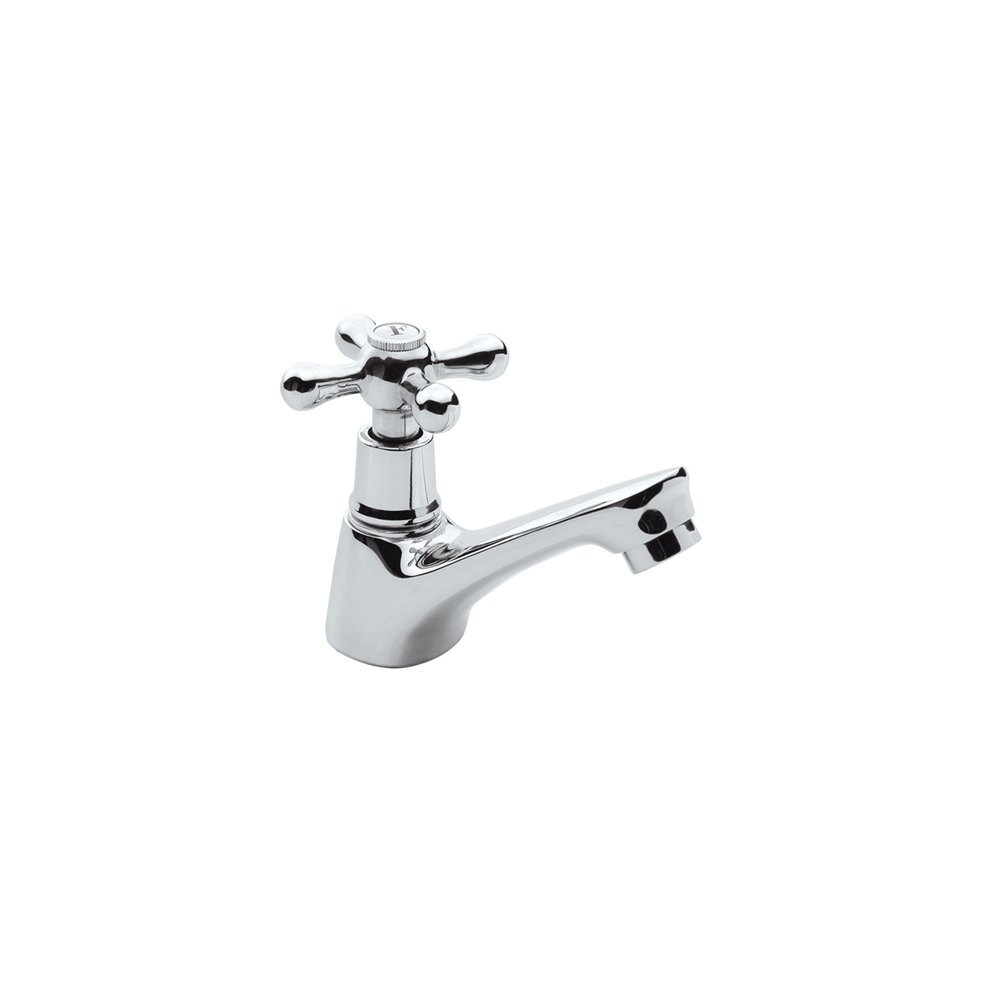 Chrome Plated Brass Double Bathroom Sink Separate Taps Set - Hot + ...