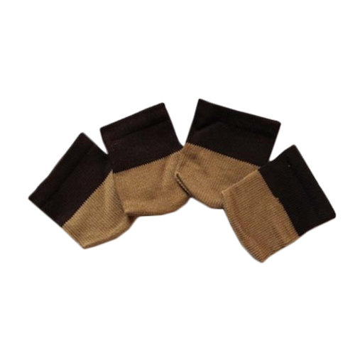 Set Of 4 Knitting Table/Sofa Leg Pad Furniture Sock Floor Protector Coffee Black