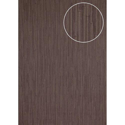 Atlas INS-5078-1 Embossed wallpaper shimmering grey-brown red 7.035 sqm