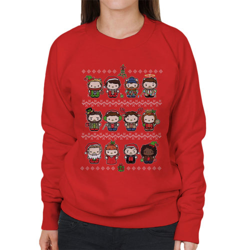 Supernatural A Happy Spn Holiday Christmas Knit Women's Sweatshirt