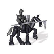 Stikfas Omega Male Armored Knight w/ Stallion