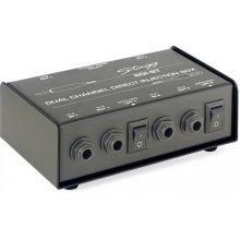 Stagg SDI-ST 2-Channel, passive DI box with Mono/Stereo switch