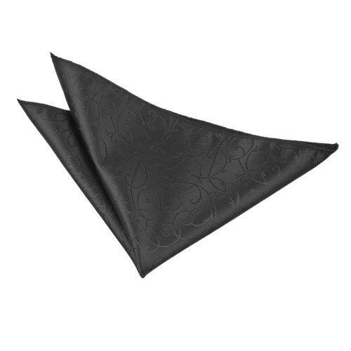 Black Swirl  Pocket Square