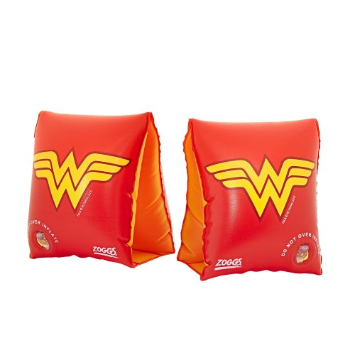 Zoggs Kids' DC Super Heroes Wonder Woman Inflatable Swimming Armbands, Red/Yellow, 2-6 Years