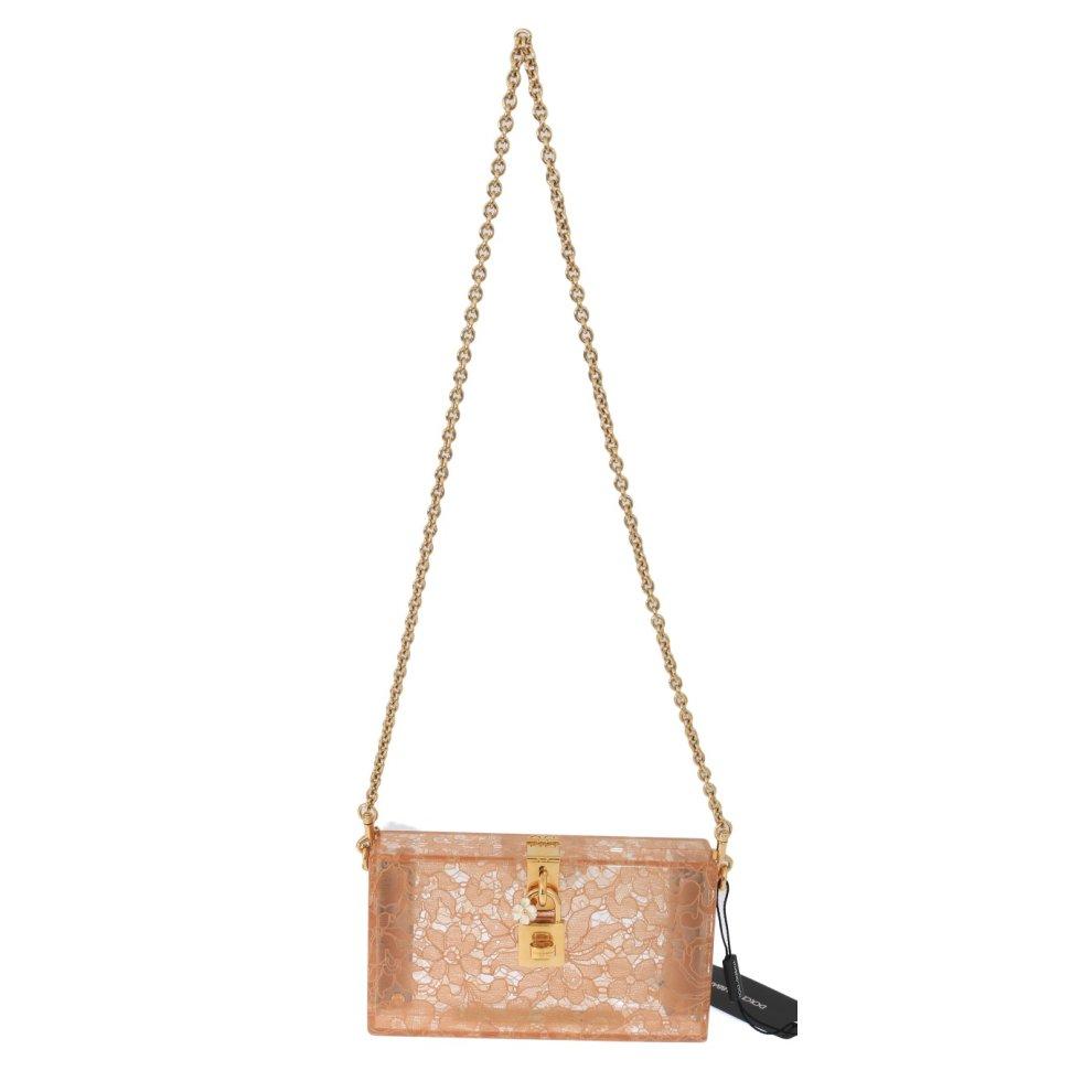 ae4840b9b0 Dolce & Gabbana Pink Taormina Lace Crystal Clutch Bag on OnBuy