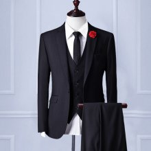 【Handmade】 Custom Mens Suit wool blend 3piece Wedding Suit