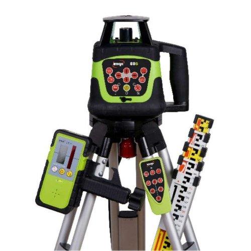 Imex 88G Rotating Laser Green Beam Kit with Tripod & Staff