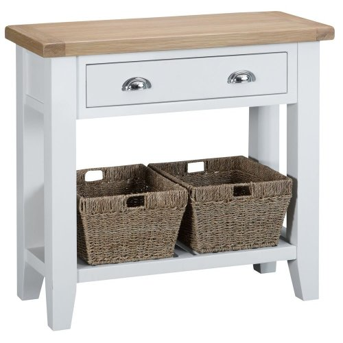 Suffolk White Painted Oak Console Table