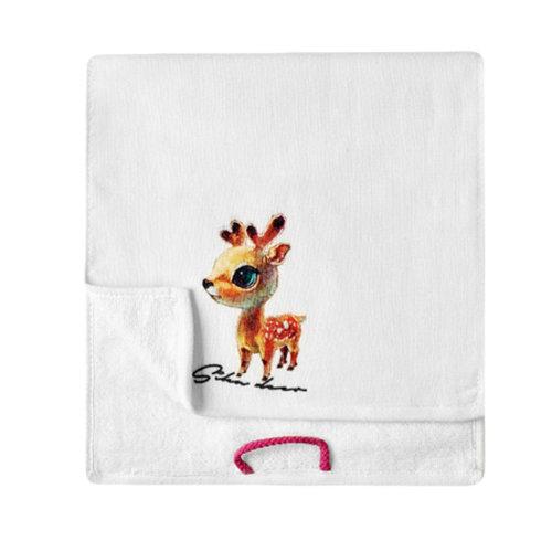 Lovely Design Soft Absorbent Cotton Towels for Kids 2 Pcs - Deer
