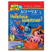 Educational Insights Hot Dots Jr. Interactive Storybooks- Ace and Kat Undersea Adventure, Set Of 6