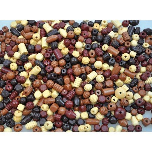 Pbx2470819 - Playbox - Wooden Beads (natural) - 250g
