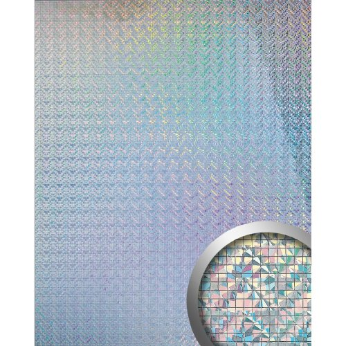 WallFace 10575 M-STYLE Wall panel eyecatch decorself-adhesive silver | 0.96 sqm