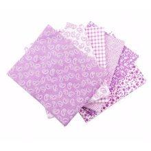 Fat Quarter Bundle - 100% Cotton - Classic Lilac - Pack of 6