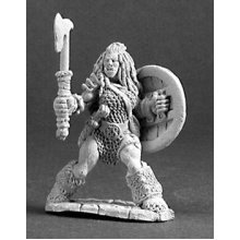 Reaper Dark Heaven Legends 03215 Jadeah, 1/2 Orc Barbarian