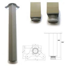 1 x 820mm Aluminium Breakfast Bar Worktop Support Table Leg Square 65mm Diameter