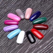 12 Colors Pure Soak-Off UV Gel Nail Art Polish Nude Manicure Varnish DIY