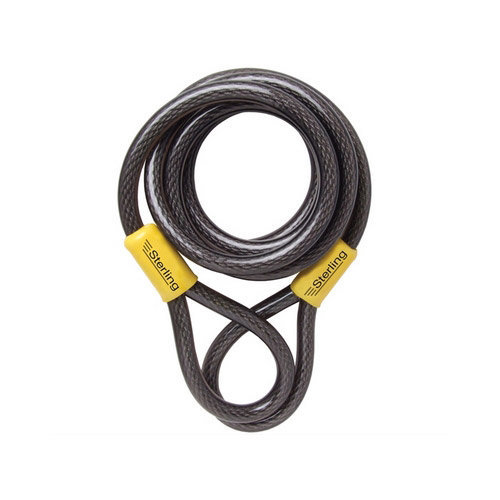 Sterling 122C Double Loop Vinyl Coated Steel Cable Self Coiling 12mm x 2.1 Metre