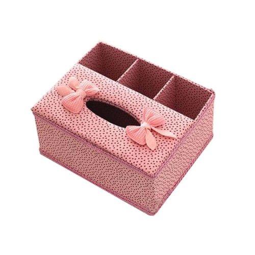 Multifunctional Tissue Box cover/Elegant Paper Towel Storage Box/Pink