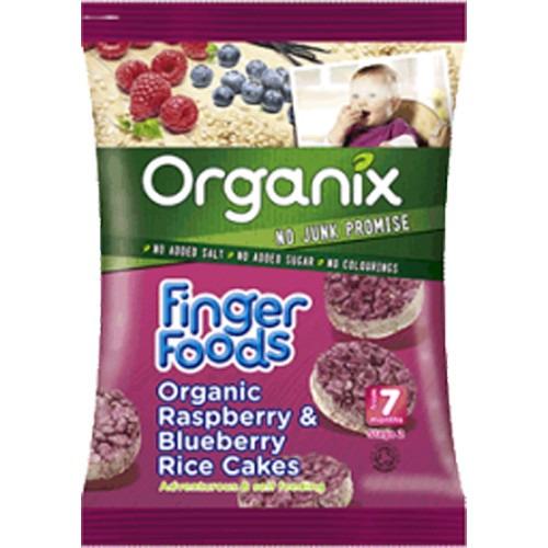 Organix Raspberry & Blueberry Ricecakes 50g