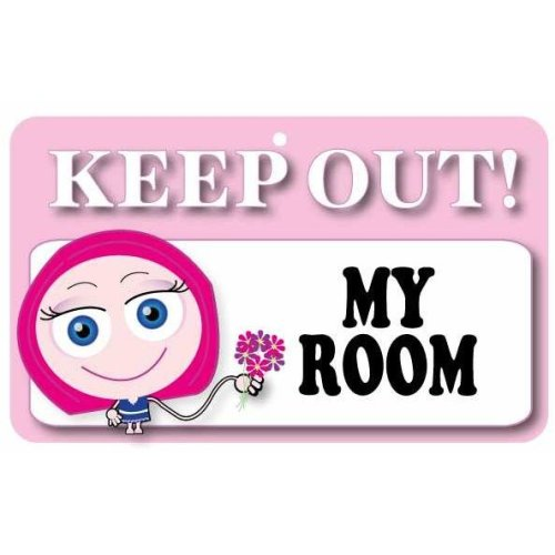 Keep Out Door Sign - My Room (Girls)