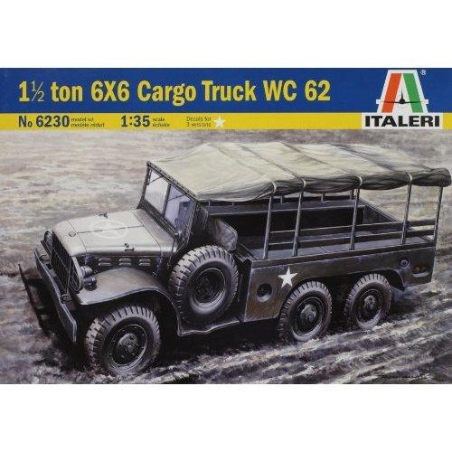 Italeri 1/35 1 1/2 Ton 6x6 Cargo Truck Wc 62 # 6230