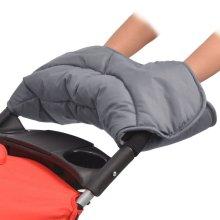 vidaXL Stroller Hand Muff 55x25 cm Grey