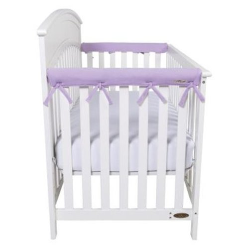 Trend-Lab 109113 CribWrap Narrow 2 Short Lavender Fleece Rail Covers