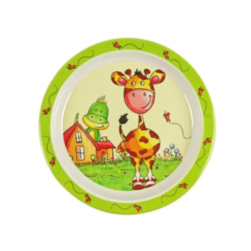 3 Pieces Of Fashion Cartoon Giraffe Pattern Drop Resistance Plate