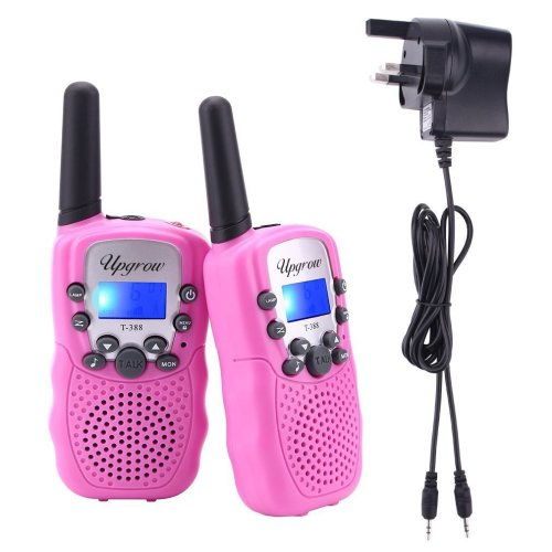 Upgrow 2pcs RT-388 Kids Walkie Talkies Children Walky Talky 0.5W 8 Channels PMR446MHz Rechargeable 2 Way Radio for Children 2-3 KM Long Range, UK...