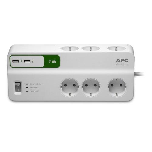 APC PM6U-GR 6AC outlet(s) 230V 2m White surge protector