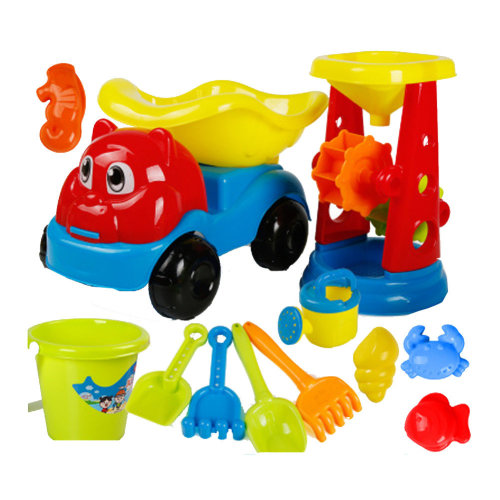 12 Piece Beach sand Toy Set, Bucket, Shovels, Rakes,Perfect for Holding Childrens' Toys#A