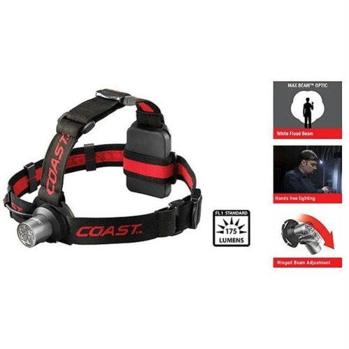 Coast HL5 Headlamp  3 AAA Batteries  175 Lumens