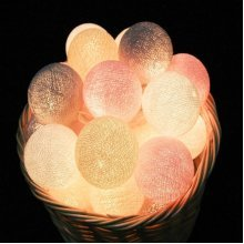 20 LED Cotton Balls Fairy String Lights
