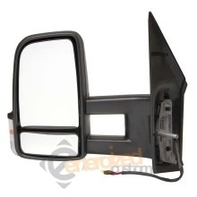 Mercedes Sprinter 2006- Manual Black Long Arm Wing Door Mirror Passenger Side