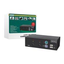 Digitus USB-PS/2 Combo-KVM switch Black KVM switch