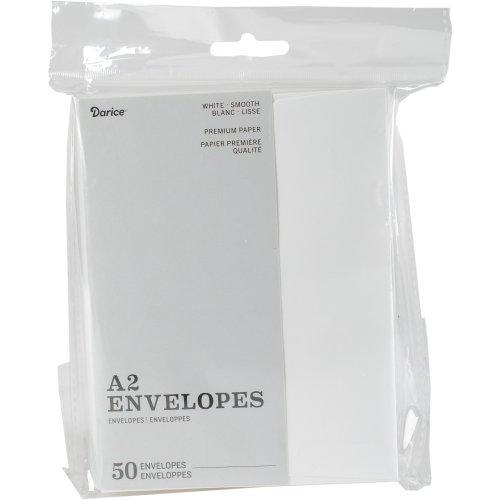 """Heavyweight A2 Envelopes (4.375""""X5.75"""") 50/Pkg-White"""