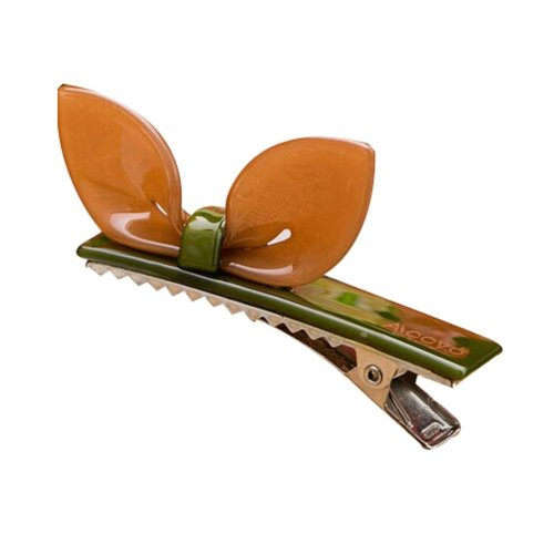 Set of 2 Rabbit Ear Hair Pin Fashion Hair Clip/Hairpin,Brown/Green