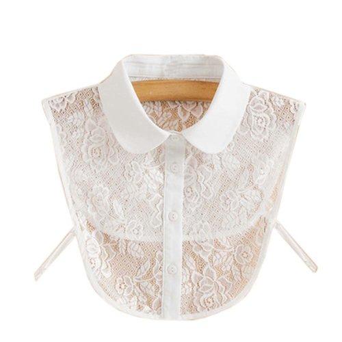Trendy Detachable Lace Collar Fake Collar All-match Fake Half Shirt for Women, #07