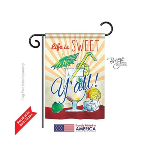 Breeze Decor 67037 Sweet Y all 2-Sided Impression Garden Flag - 13 x 18.5 in.