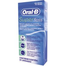 2 x Oral -B Super Floss 50 PRE-CUT STRANDS, Dental Floss