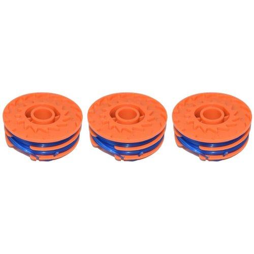 3 x Spool & Line For Worx WG110E Strimmers 5 Metre