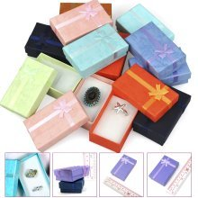Trixes 12 x Luxury Rectangular Bow Gift Boxes for Jewellery