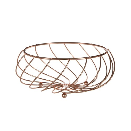 Kuper Fruit Basket, 27 cm - Rose Gold