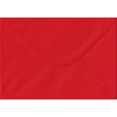 Poppy Red Gummed C5/A5 Coloured Red Envelopes. 100gsm FSC Sustainable Paper. 162mm x 229mm. Banker Style Envelope.