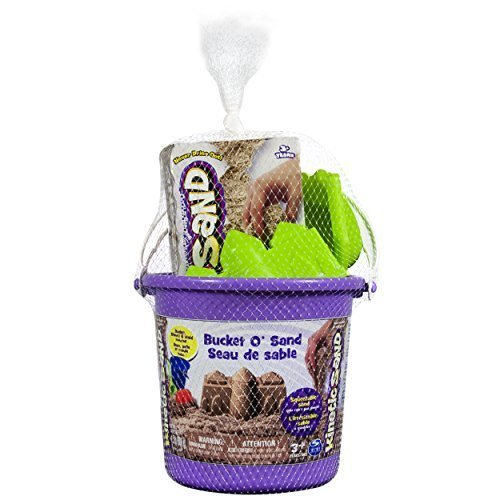 Kinetic Sand Bucket OSand 1 5 pounds Brown with Castle Mold and Shovel