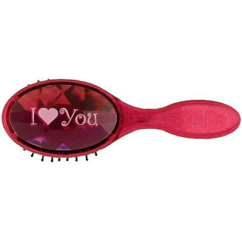 I Love You Bejewelled Hairbrush