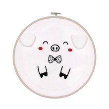 Embroidery Hand Sewing Tool Hoop Set Best Gifts Cute Pig Pattern