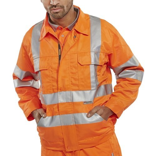"Click RSJ38 Rail Spec Hi Vis Orange Jacket Teflon Coated 38"""
